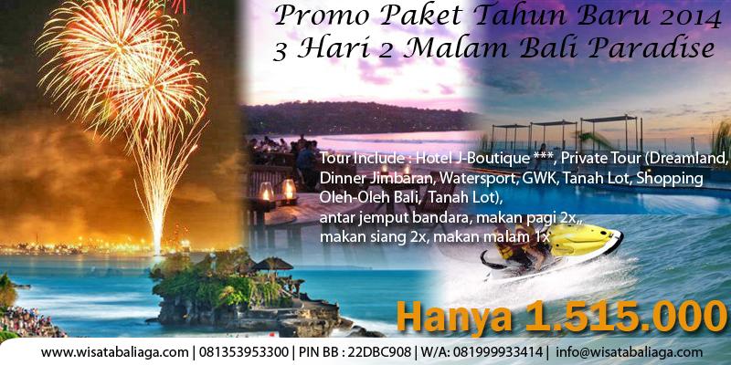 Promo Paket Tahun Baru 2015 3 Hari 2 Malam Bali Paradise